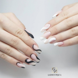 black-white-half-moon-nails
